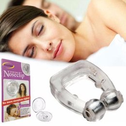 sleep apnea devices Australia - Silicone Magnetic Anti Snore Stop Snoring Nose Clip Sleep Tray Sleeping Aid Apnea Guard Night Device with Case LX7472