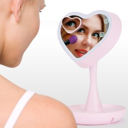 $enCountryForm.capitalKeyWord NZ - Ovonni 3-In-1 LED Lighted Makeup Mirror with 3X Magnifying Vanity Mirror Bed Lamp 7-Color-Changing Mood Light