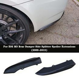 $enCountryForm.capitalKeyWord Australia - K Style Carbon fiber Rear Bumper Side Splitter Spoiler Extensions For BMW E92 E93 2Door M3