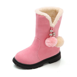 Boys shoes years old online shopping - 2019 Winter New Girls Boots Warm Cotton Boots Princess Long Children S Shoes Kids In The Year Old