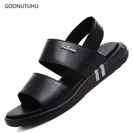 $enCountryForm.capitalKeyWord Australia - 2019 new Men's sandals summer genuine leather shoes man urban youth beach sandals platform black casual shoes for men size 36-45