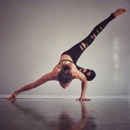 Wholesale Leggings Xl Australia - 2017 New Slim Hook Flowers Hollow Sweat Breathable Hip Polyester Black Fitness Female Leggings S-XL