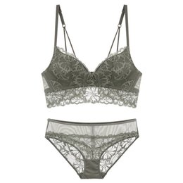0fbe05ffb TransparenT lace bra panTy seTs online shopping - Lace Sexy Bra Brief Set  Women Cup Lingerie
