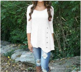 $enCountryForm.capitalKeyWord Australia - womens designer t shirts New Fashion Womens Ladies Long Sleeve Causual Irregular Tops Loose Slim Casual Tee Shirt T-shirt