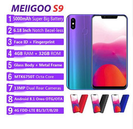 "$enCountryForm.capitalKeyWord Australia - original MEIIGOO S9 mobile phone 4GB RAM 32GB ROM MTK6750T Octa Core 6.18""FHD Android 8.1 5000mAh 4G LTE 13MP Face ID Smartphone"