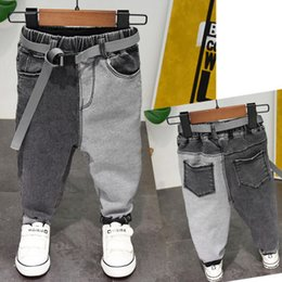$enCountryForm.capitalKeyWord Australia - Boys Jeans Children's Casual Pants Fashion New 2019 Spring Autumn Kids Boys Patchwork Jeans with Belt Toddler Trousers Pant 2-7Y