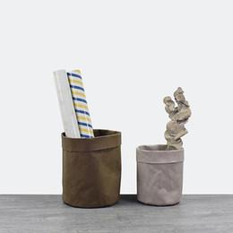 $enCountryForm.capitalKeyWord Australia - New Kraft Paper Bags Planters Flower Pots Washable garden pots multi-function Storage Bag succulent planters Decoration