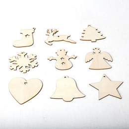 $enCountryForm.capitalKeyWord Australia - 20 Pcs Pack Christmas Decors Snowflake Star Angel Boot Bell Christmas Tree Elk Hanging Wooden Ornaments Craft Gift with Rope