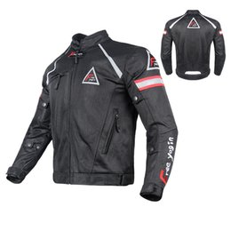 $enCountryForm.capitalKeyWord Australia - Summer mesh breathable motorcycle off-road jacket ride jackets racing clothing men's off-road jacket windproof have protection Reflective