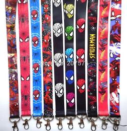 $enCountryForm.capitalKeyWord Canada - Hot!20pcs Different Style Superhero Spiderman Key Lanyard Cheetah Id Badge Holders Animal Stripe Phone Neck Straps Free Shipping