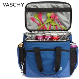cooling pack boxes Australia - Vaschy Large Cooler Bag 23L Insulated Leakproof Picnic Lunch Bag Multi-Pockets Detachable Shoulder Strap Ice Pack Cooler Box