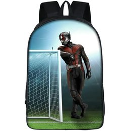 coolest backpacks NZ - Ant man backpack Football door daypack Small size hero schoolbag Cool print rucksack Sport school bag Outdoor day pack