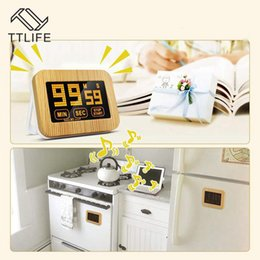 lcd screen stands Australia - TTLIFE Touch Screen Luminous Kitchen Timer LCD Display Magnetic with Stand Timer Luminous Loud Alarm Digital Study Timer