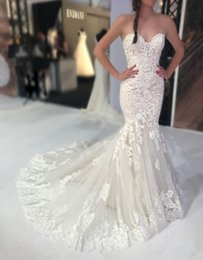 $enCountryForm.capitalKeyWord Australia - Classic Lace Mermaid Wedding Dress for Bride Sweetheart Fit and Flare Backless Modern Bridal Gown Elegance 2019