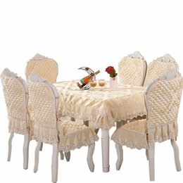Wholesale Europe Table Cloth Size x180cm Chair Cover Seat Cushion Home Hotel Party Banquet Tablecloth Wedding Decoration Toalha De T8190620