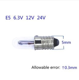 $enCountryForm.capitalKeyWord Australia - Mini indicator light bulb E5 6.3V E5 12V 24V small bulb signal lamp bead E5 6V Miniature bulb