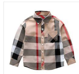 $enCountryForm.capitalKeyWord Australia - 3T-8T Hot sale Fashion boy clothes Spring new long sleeve big plaid tshirt brand pattern lapel boy shirt