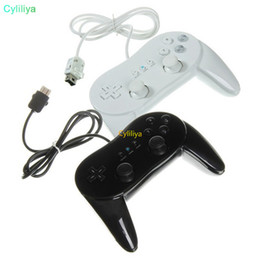 Ps2 Remotes Australia - Classic Wired Horn Game Controller Gaming Remote Pro Gamepad Shock Joypad Joystick For Nintendo Wii Second-generation II 2nd WiiPro