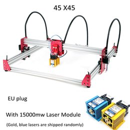 engraving routers NZ - New 15W Laser Engraving Machine 45*45cm 500mw 2500mw 5500mw 15000mw Wood Router DIY Mini GRBL Laser stainless Engraving Machine