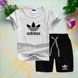$enCountryForm.capitalKeyWord Australia - New Style Children's Clothing For c Boys And Girls Sports Suit Baby Infant Short Sleeve Clothes Kids Set 2-7T