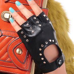 $enCountryForm.capitalKeyWord Australia - Long Keeper 2017 Fashion Half Finger Gloves Men Faux Leather Mittens Fingerless Tactical Gloves Men Women Driving Guantes G221