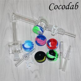 $enCountryForm.capitalKeyWord Australia - Glass Mini Nectar Collectors with 10mm 14mm Quartz Filter Tips Tester Quartz Straw Tube Glass Water Pipe Smoking Accessories Honey Dab Straw
