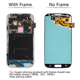 $enCountryForm.capitalKeyWord NZ - Blue For Samsung Galaxy S4 SIV i9500 High quality LCD Display Touch Screen Digitizer with Frame Replacement Assembly