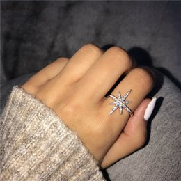 $enCountryForm.capitalKeyWord Australia - Fashion Lady Unique Promise Ring 925 sterling Silver 5A cz Stone Engagement Wedding Band Rings For Women Finger Jewelry Gift