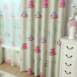 curtain blinds Australia - Cartoon owl shade blinds finished window blackout curtains for kids bedroom windows
