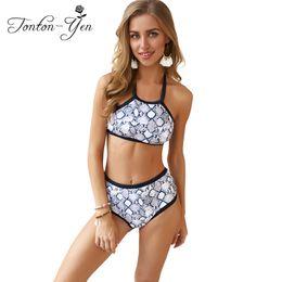 c75319db2da95 Sexy Print Bikini Set for Female High Waist Shorts Brazilian Swimwear  Spaghetti Strap Bathing Suit Plus Size Swimsuit