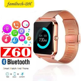 $enCountryForm.capitalKeyWord Australia - Hot Z60 Smart Watch Bluetooth Smartwatch with Luxury Stainless Steel Support SIM and TF Card Smart Band for IOS Android with Retail Box