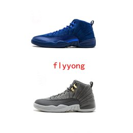 311bbbab1a99 Authentic New 12 12s OVO White Gym Red Dark Grey mens basketball shoes  sneakers women Basketball Shoes Taxi Blue Suede Flu Game CNY