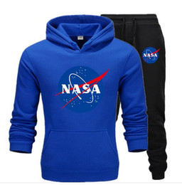 China Designer NASA Tracksuit Mens Sweat Suits Autumn Brand Mens Jogger Suits Jacket + Pants Sets Sports Women Suit Hip Hop 2PCS Sets Size S-3XL supplier sport hip hop pants woman suppliers