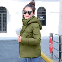 $enCountryForm.capitalKeyWord Australia - Winter Jacket women 2019 Plus Size Womens Parkas Thicken Outerwear solid hooded Coats Short Female Slim Cotton padded basic tops T190830