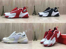 Good Football Shoes NZ - M2k Tekno Zoom 2K Men Casuall Shoes 2000 Black Sail White Orange Navy Good Quality Designer Sports Shoes Mens Trainer Size 7-12