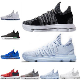 detailed look bfc3a 56330 Cheap KD 10 Kevin Durant Men Basketball Shoes Oreo BHM White black Numbers  Anniversary Stucco Igloo Multi Color 10 X Sports Sneaker Shoe