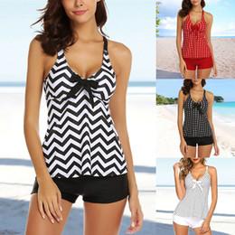 0acc9286a23cc Vertvie Sexy Women Tankini Dot Print Deep V Bikini Set Two-Piece Swimsuit  Top with Shorts Plus Size Swimwear Push Up Beach Dress