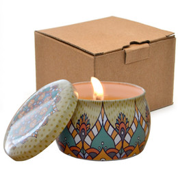 Hotel candles online shopping - Tin Box Candle Holders Colourful Bedroom Living Room Hotel Decorate Restoring Ancient Ways Fashion Cylindrical Paraffin Candles Jar tbC1