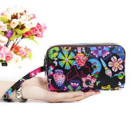 $enCountryForm.capitalKeyWord UK - Women Wallet Three Layers Bag With Wrist Belt Zipper Clutches Cute Cartoon Cat Floral Mermaid 7 Colors Female Wallet Lady Clutch