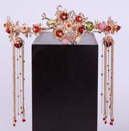 $enCountryForm.capitalKeyWord Australia - Headdress Hanfang Hair Belt Ancient Dress Hair Ornament tasseled hairpin Bride Ancient Headdress Chinese Wedding Accessories