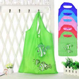 $enCountryForm.capitalKeyWord Canada - Portable Eco-friendly Storage Handbag Tropical Fish Foldable Shopping Bags Cartoon Folding Bag Women Grocery Polyester Large Bag