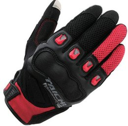 Leather Gloves Rs Taichi Australia - 2018 RS Taichi 412 Motorcycle Gloves locomotive mesh breathable car anti-fall touch screen men ANd Women Gloves