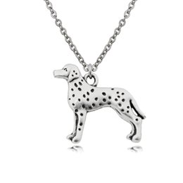 $enCountryForm.capitalKeyWord UK - New Vintage Dalmatian Pendant Stainless Steel Chain Necklace Colar Boho Dog Charms Women Necklaces For Girls Bijoux Femme Best Gifts