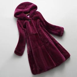 $enCountryForm.capitalKeyWord Australia - Autumn Winter New Real Genuine Rex Fur Coat Women Winter Natural Rex Fur Coat Jacket with Hood A182