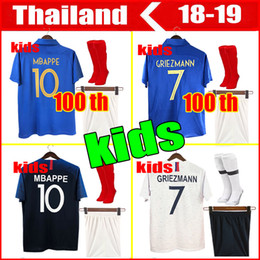 ed51a4f9a55 Short france online shopping - 100th anniversary Maillot de Foot kids  soccer jersey two stars equipment