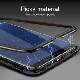$enCountryForm.capitalKeyWord Australia - Magnetic Phone Case Adsorption Tempered Glass Back Panel Cover For iPhone 8 7 6S Xr Xs Max Plus Samsung S8 S9 S10 5G Plus S10E Note 9