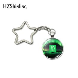 $enCountryForm.capitalKeyWord Australia - 2019 New Jehovah's Witnesses Star Keychains Charming Aurora with JW.ORG Signs Holder Keyring Jewelry Gifts for Christians