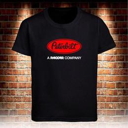 403b0f13 T Shirt Trucks Canada - Black T-shirt PETERBILT Trucks Logo Trucker A  Paccar Company