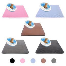 Eva foam floor carpEt online shopping - 4 Sizes Double Layer Waterproof Cat Litter Mat Nonslip Protect Floor Honeycomb Sifting Pad Feeding EVA Foam Pet Trapper Carpet