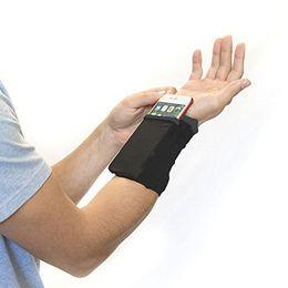 Wrist Band Cycling Australia - Gym Cycling Running Phone Arm Bag Wristband Badminton Tennis Sweatband Wrist Support Pocket Wrist Wallet Pouch Arm Band Bag #19354